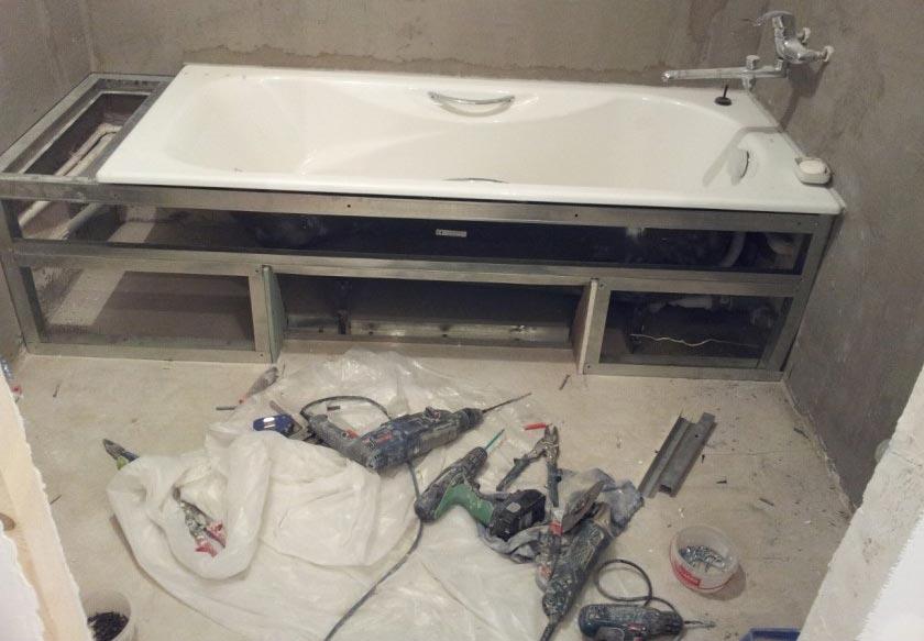 установка ванны-рекомендации