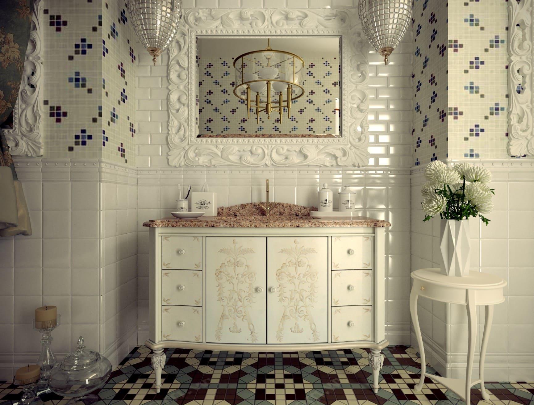 ванная плитка винтажный стиль