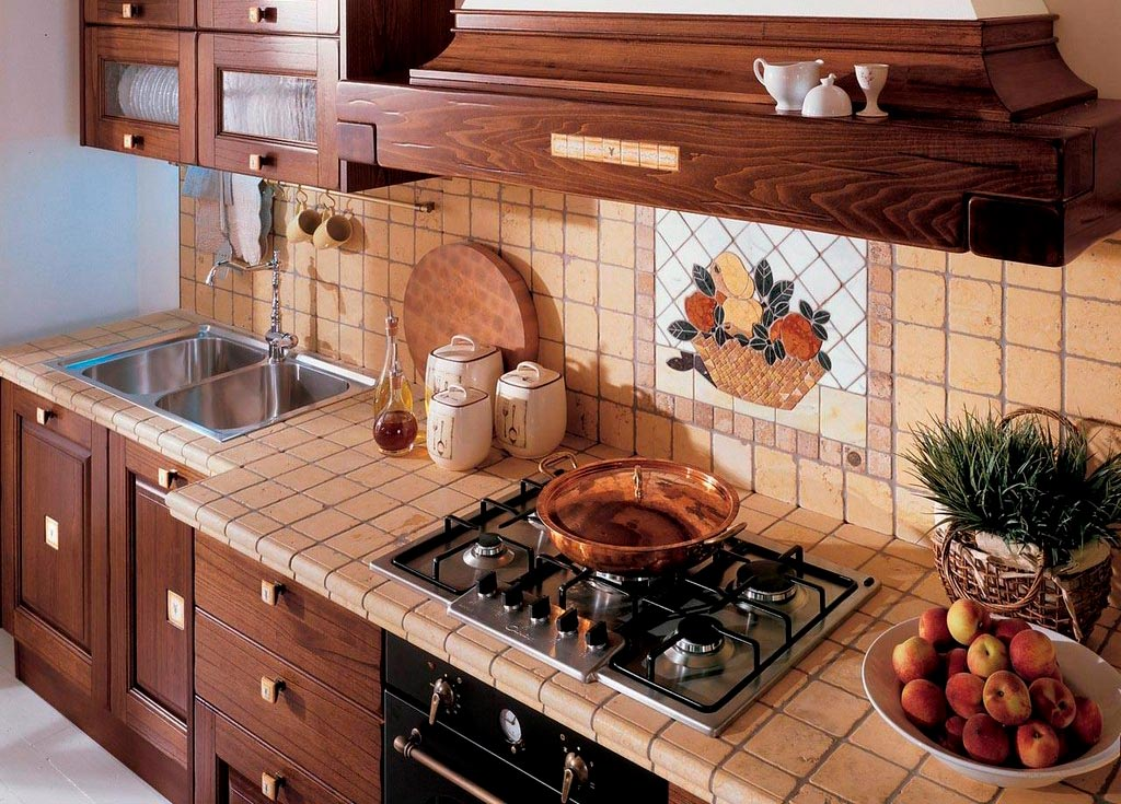 Выбор плитки для облицовки столешницы на кухню 2