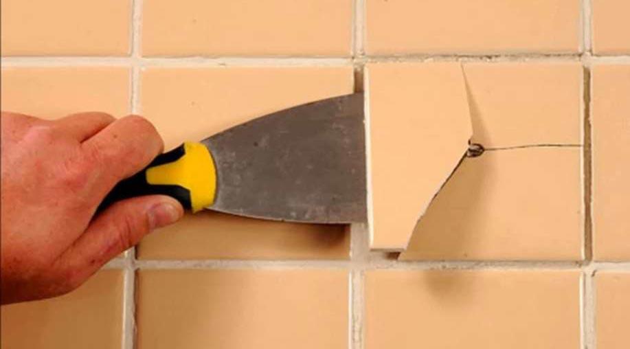 замена отдельных плиток на кухне