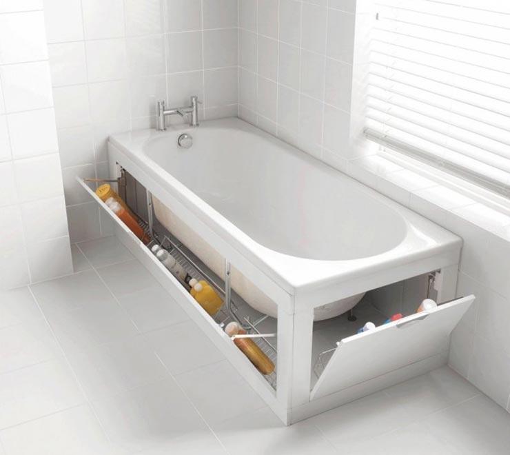 экран под ванну из плитки раздвижной