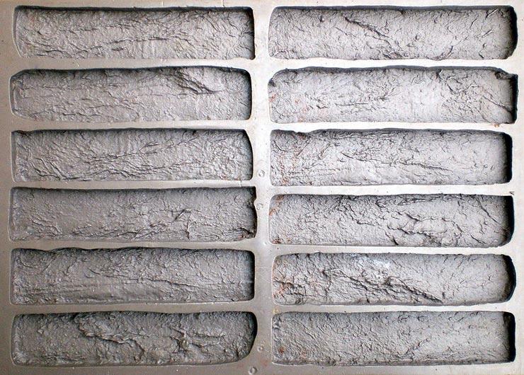 Форма для гипсовой плитки под кирпич