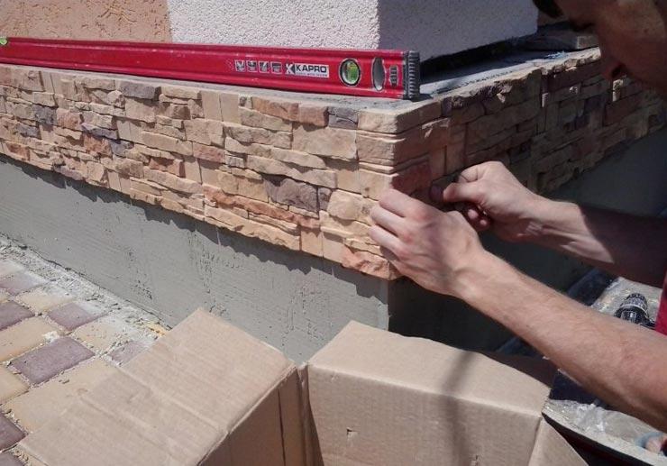 Гипсовая плитка на облицовку здания