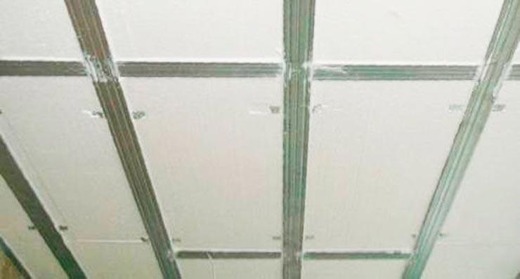 Каркас из пенопласта на потолок
