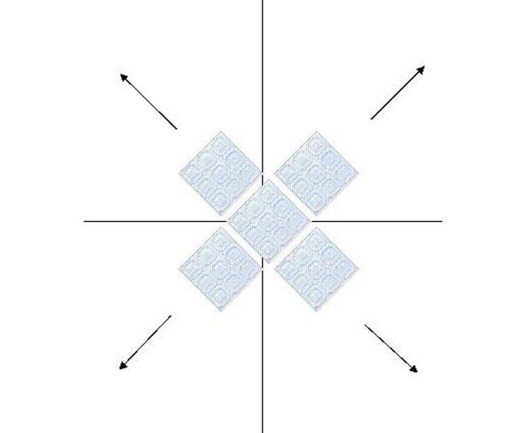 Плитка на потолке по диагонали