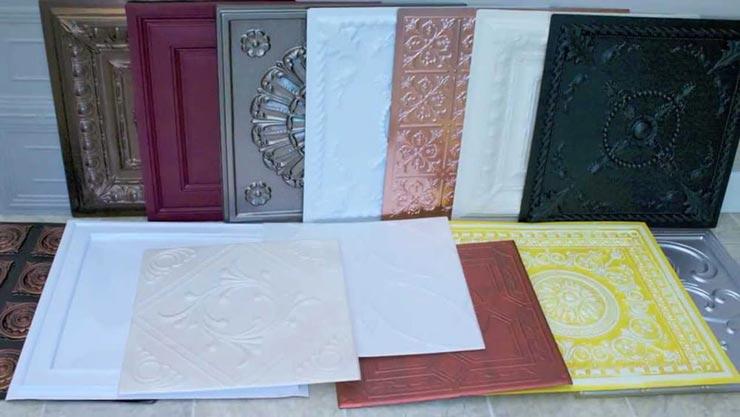 Ламинированная потолочная плитка фото
