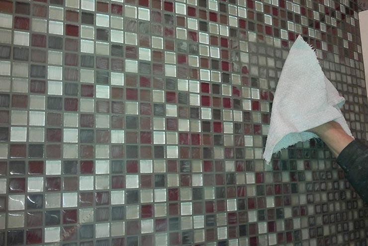 Мозаика с затиркой