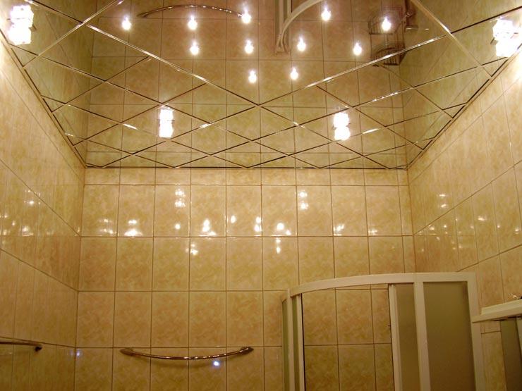 Потолки зеркальные бронза