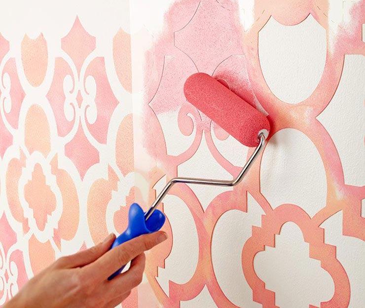 Трафареты для краски на стене