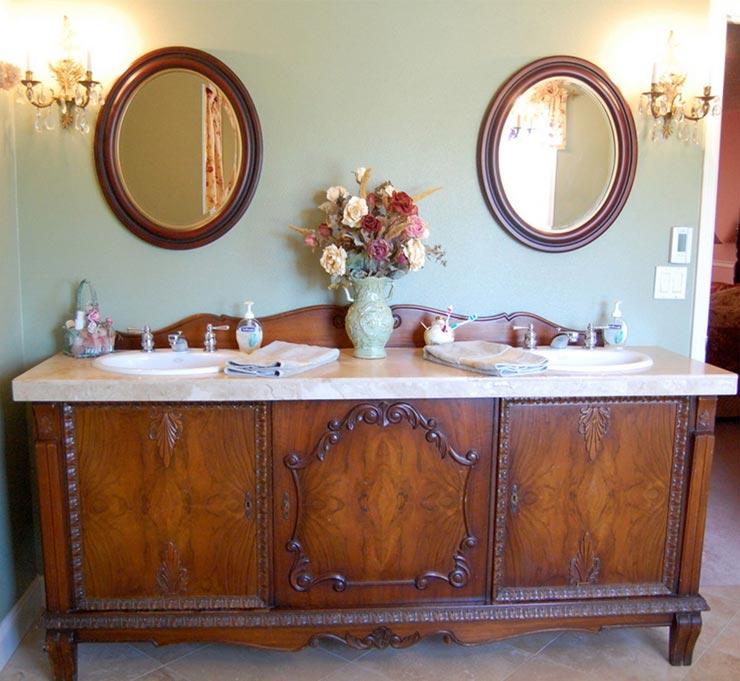 Винтажная мебель в ванной