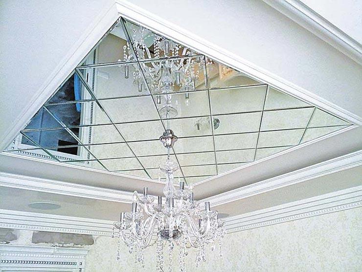 Зеркальные потолки фото